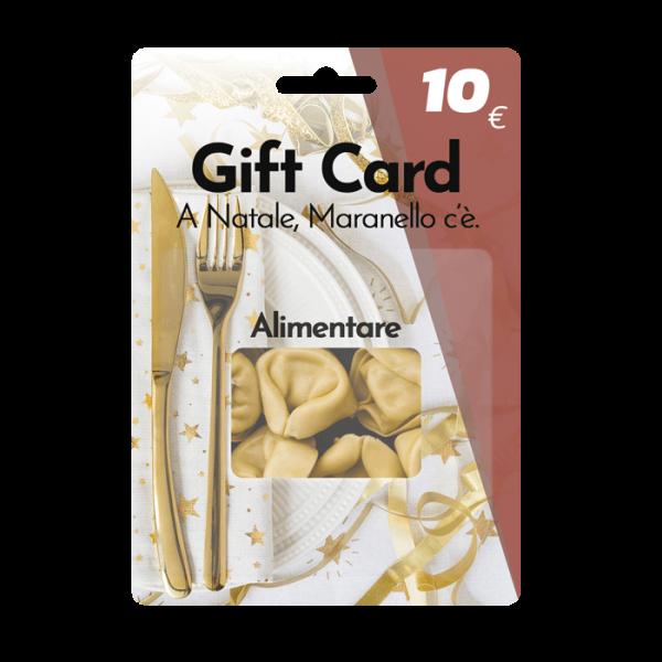 Immagine della carta regalo da 10 euro per alimentari e ristoranti